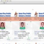 How to print Multiple School Identity Card on A4 in
