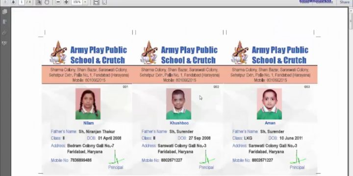 CorelDraw in Hindi: Exporting School Identity or Visiting Cards as a PDF File for Printing