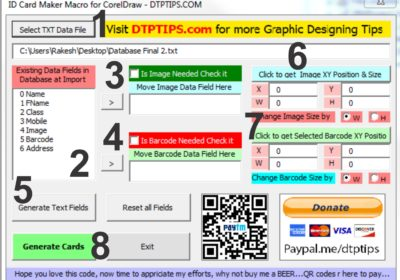 Free ID Card Maker Software : Insert Add Data and Photos Automatically