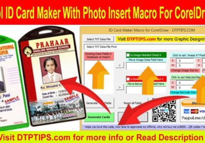 Coredraw X7 Id Card Maker Macro Data Merge with Barcode and Photograph