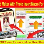 School ID card Maker Macro with Photo Inserting Feature for CorelDraw X6