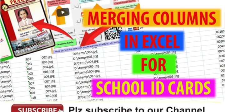 How to Add or Merge Data from Multiple Columns to New Column in Microsoft Excel Automatically for School ID Cards